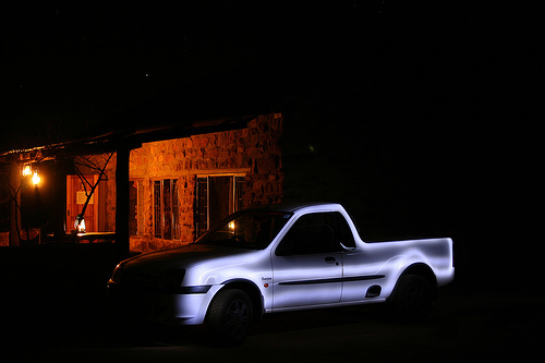 painting with light car