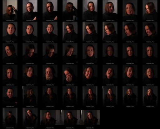 Portrait photography contact sheet