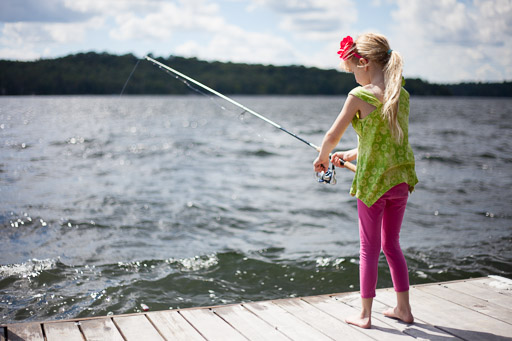 Little Girl Fishing - Better Natural Light