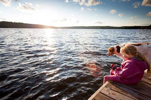 Little Girl Fishing - Best Light