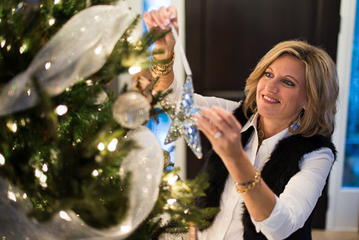 Christmas Stock Photo Christmas Stock Photography Woman with Christmas Tree