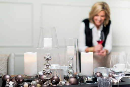 christmas stock photo christmas stock photography woman with christmas decorations