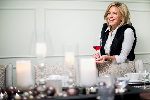 christmas stock photo christmas stock photography woman with wine glass