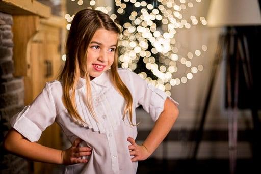 Christmas stock photo, christmas stock photography little girl with christmas lights