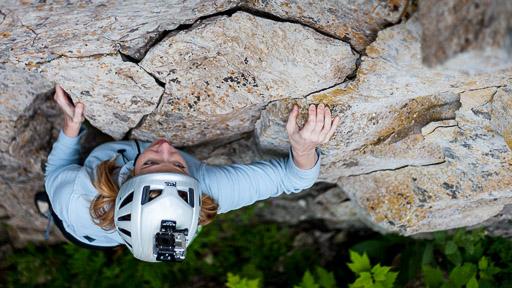 GoPro rock climbing helmet cam