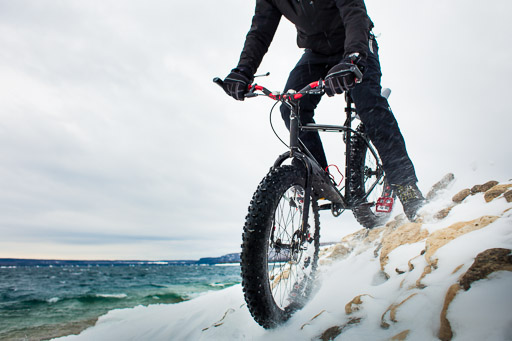 Fat Bike in Snow Action Sports Photography Toronto Commercial Photographer JP Danko blurMEDIA