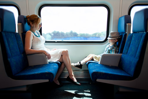 Family on commuter train jp danko toronto commercial photographer