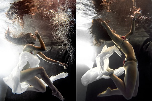 Underwater Fashion Portrait Underwater Photography JP Danko Toronto Commercial Photographer