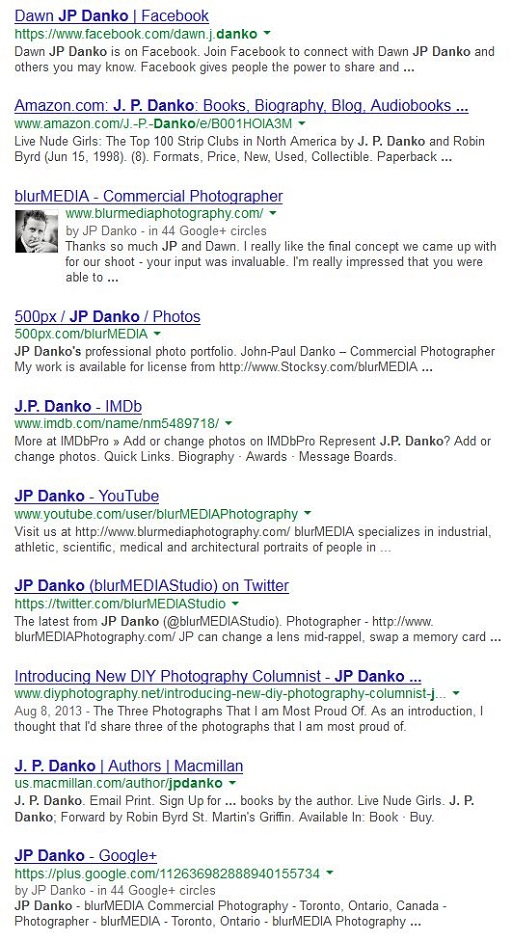 JP Danko Google Image Search blurMEDIA Toronto Commercial Photographer