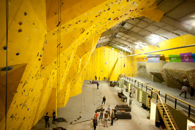 Gravity Indoor Climbing Gym Ambient Light