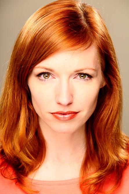 Redhead fake photoshop retouched portrait