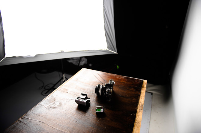 The setup shot for the plywood side.