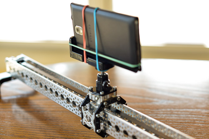 Actobotics Slider Review DIY Slider for cell phone time lapse video and gopro video slider Galaxy Note III