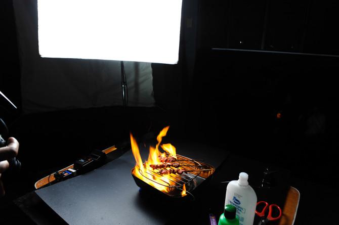 Setup Shot for BBQ Shot
