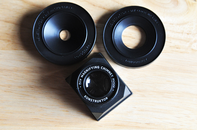 Optional Magnifying Chimney Hood, Close-up & Macro Lens Kit.