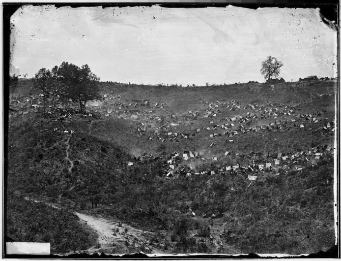 Rebel prisoners waiting at Belle Plain, Va. for transportation
