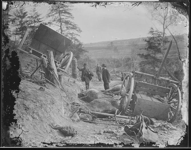 """Havoc"". Effect of a 32lb. shell from the 2nd. Mass. Heavy Artillery, Fredericksburg,Va."