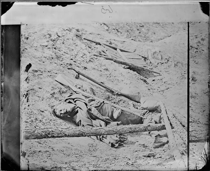Dead Soldier in Trench, Petersburg.
