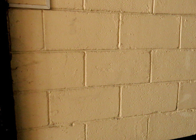 The color of the wall in our garage before