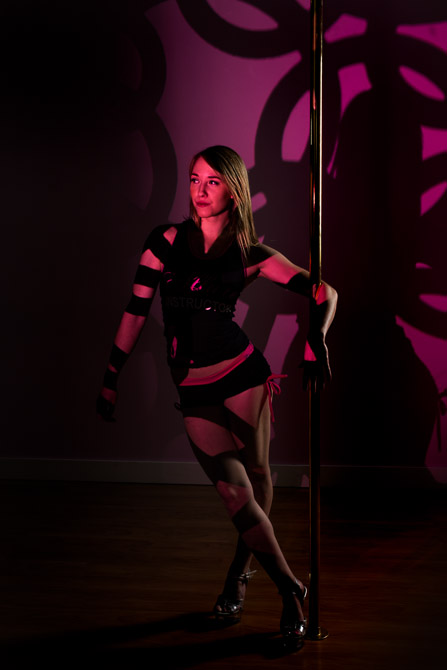 spiffy gear light blaster gobo creative kit pole dancing classes jp danko toronto commercial photographer
