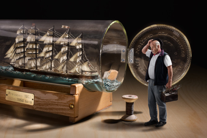 How To Build A Ship In A Bottle (project with one of the last people in Switzerland who builds these)