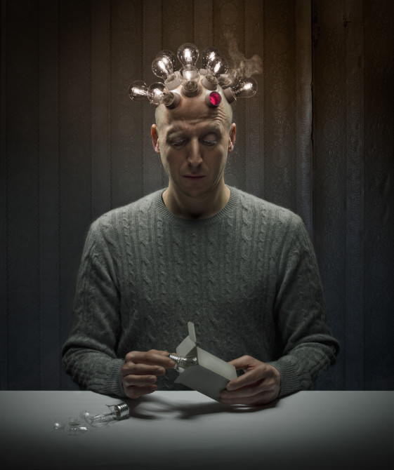 The Smart Man (collaboration with digital artist John Wilhelm)