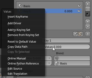 Blender Keyframe Shape Key Start