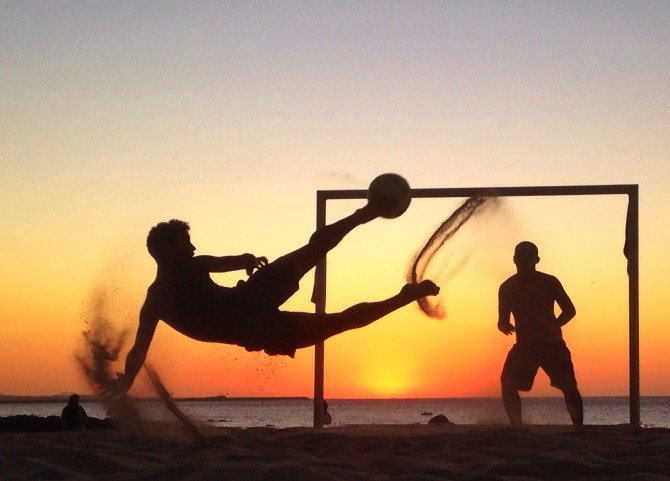 Robert Cianflone capturing locals playing soccer.