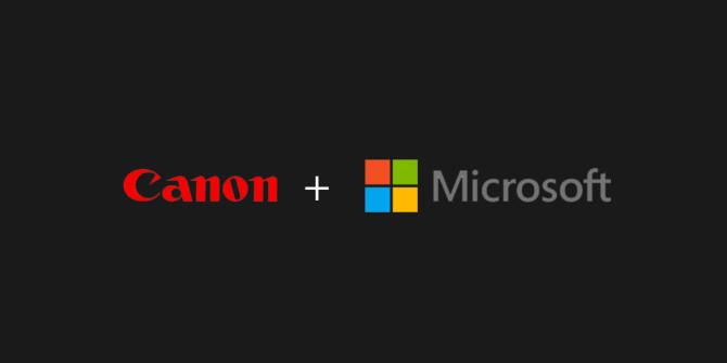 Canon + Microsoft