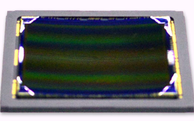 Our first image of the sensor itself.
