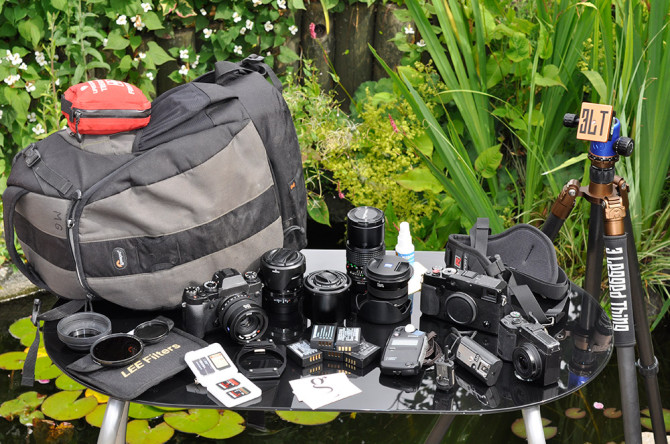 Mirrorless camera gear by Martin Gillman on InMyBag.net