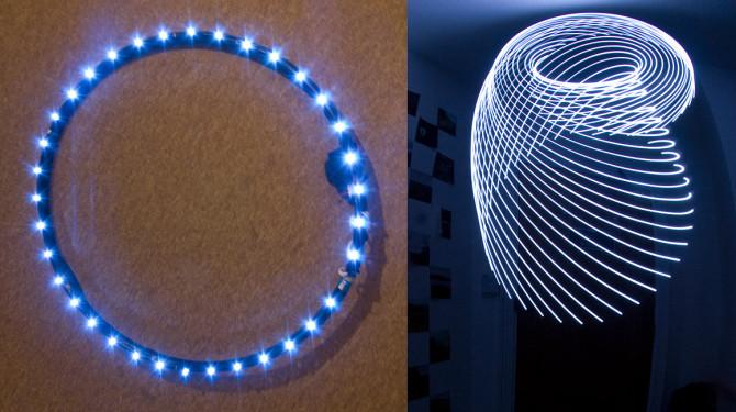 The basic design of Kimbell's LED light hoop.