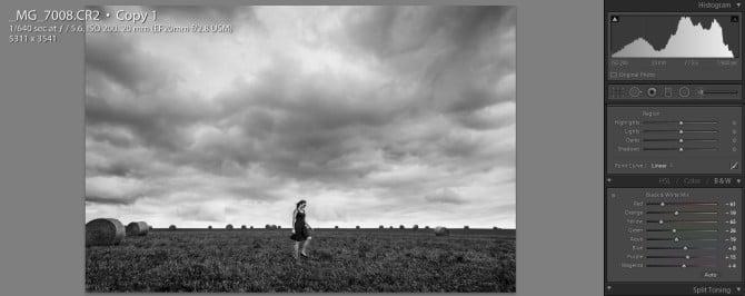 Black and white conversion lightroom tutorial jp danko toronto commercial photographer