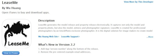LeaseMe model release mobile app