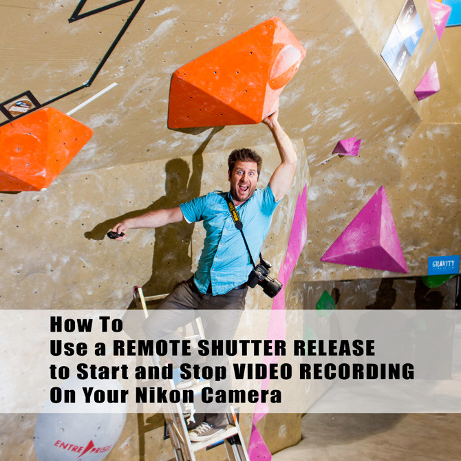 how to start and stop video recording using a remote shutter release