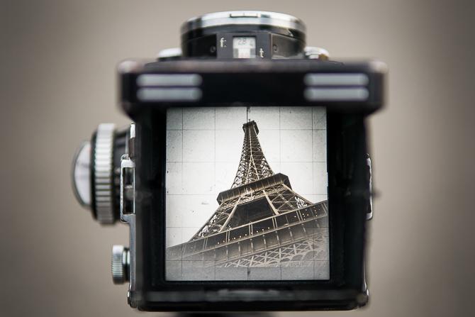 vintage rolleiflex twin lens reflex film medium format camera paris, jp danko, toronto commercial photography, stock photography