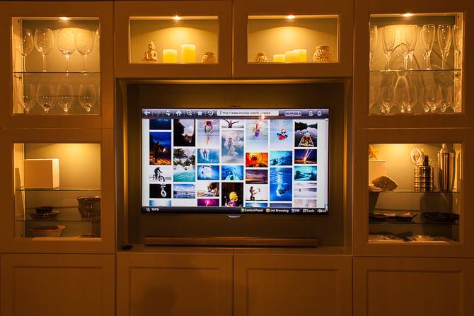 Ikea Hack Besta TV Wall Unit Undercabinet Accent Lighting Warm LED