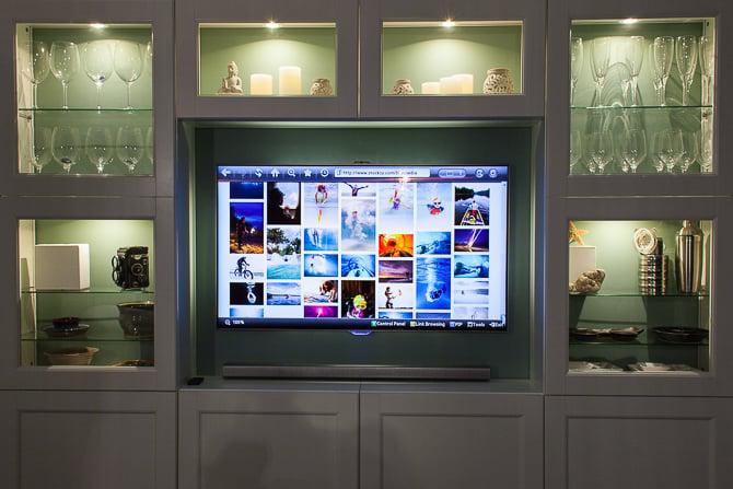 Ikea Hack Besta TV Wall Unit Undercabinet Accent Lighting Warm LED 1/2 CTO gel