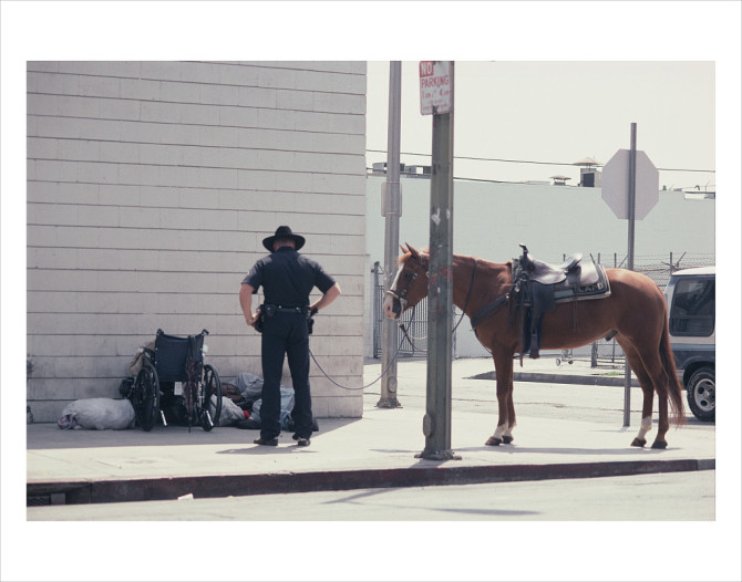 S. E. corner of St. Julian and 6th St., Skid Row, Los Angeles, 2003