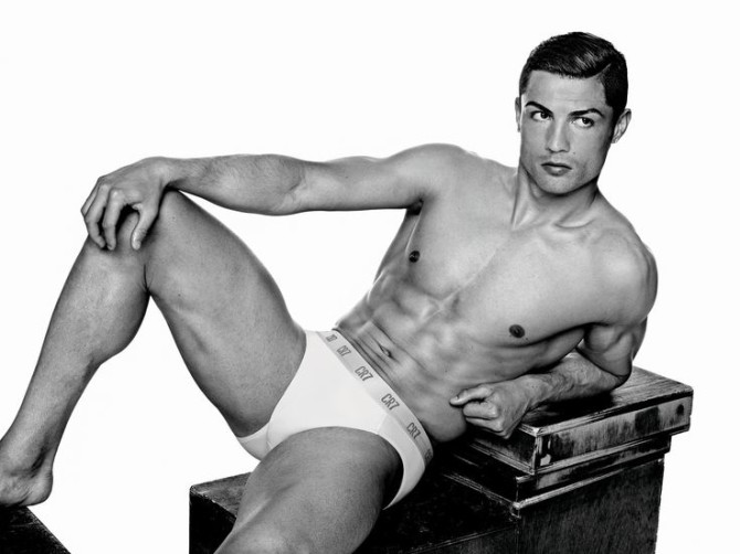 Guys, unless you can pull off this look, you should support normal sized models. Photo: cr7underwear.com
