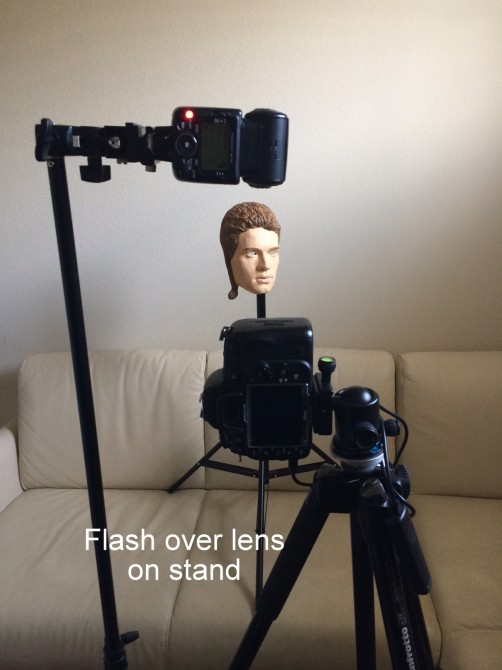 flash directly over the lens