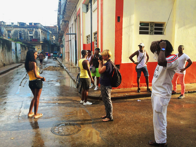 A typical shoot in Cuba