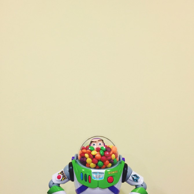 Pretty mature way to keep the candy just for you, Buzz