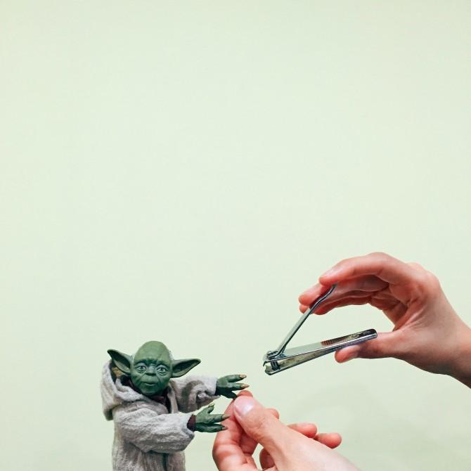 Hey, Yoda, girl, it's manicure time