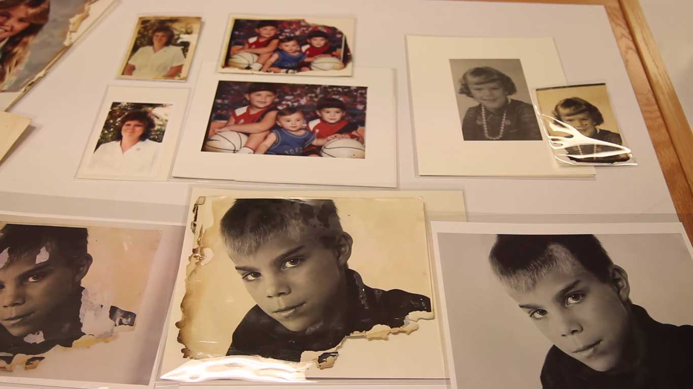 Students Help To Restore Fire Damaged Photos For Parents