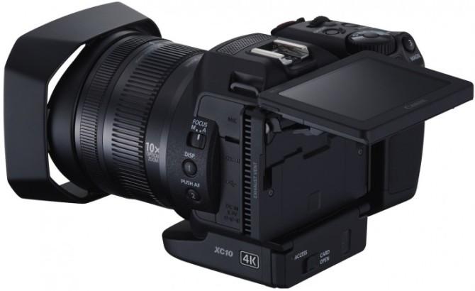 Canon's DSLR-like 4K video camera. The XC10.