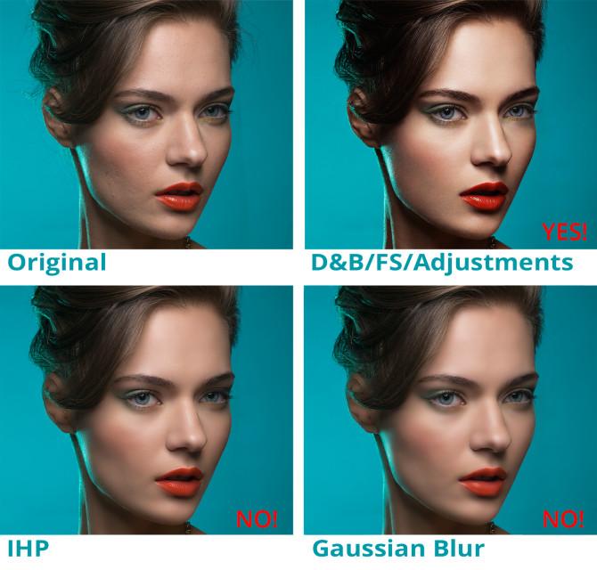 Comparing-different-retouch-technique