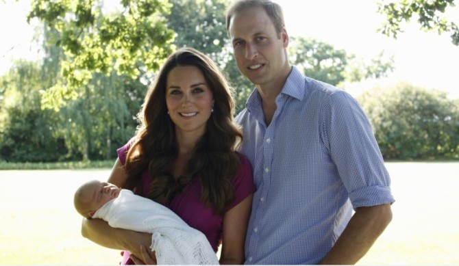 Definitely not the best portrait photographer in the family. Prince George's first official photo, taken by Kate's father. Credit: Michael Middleton