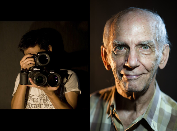 The photo on the left was a shot I did years ago using a desk lamp to light. The Photo on the right was an article I made this year using the same technique. https://www.diyphotography.net/howto-dramatic-portrait-lighting-using-nothing-lamps/