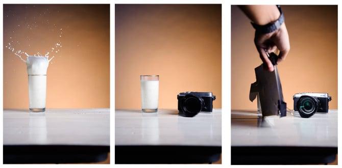 milk splash composite